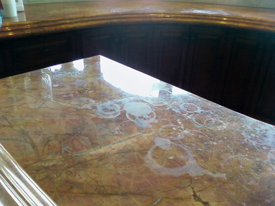 Ring Marks on Natural Stone Countertops