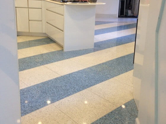 After pic: Natural stone floors